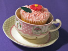 Robert Gordon Cup and Saucer with cupcake